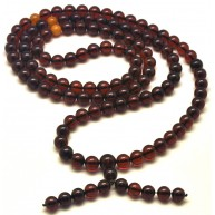 Baltic amber Tibetan Buddhist Mala Prayer 108 beads 11 mm  86g
