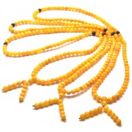 Lot of 3 Baltic amber Tibetan Buddhist Mala Prayer 108 beads 4,9 mm