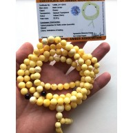 Natural Baltic Amber Tibetan Buddhist Rosary Prayer round beads buddha