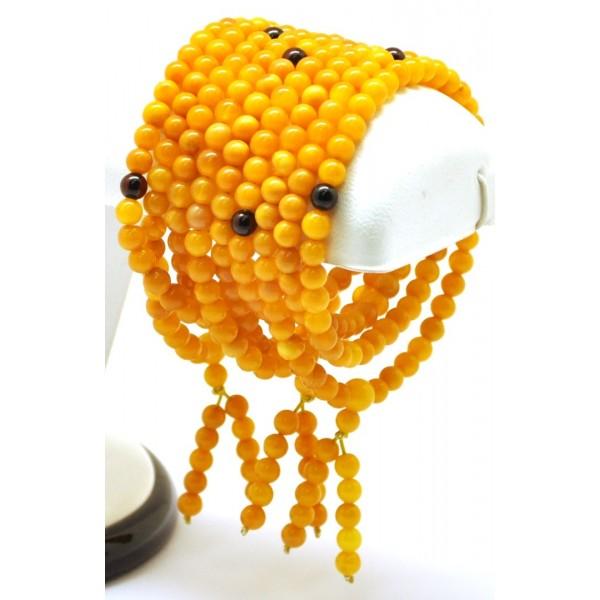 Lot of 3 Baltic amber Tibetan Buddhist Mala Prayer 108 beads 4,9 mm
