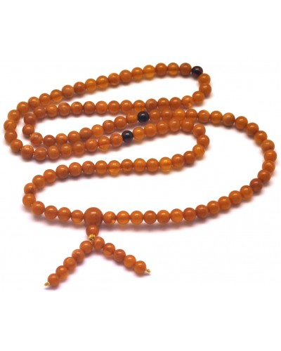 Elastic Tibetan Buddhist Mala Prayer 108 Baltic amber beads 5,2 mm