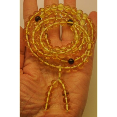 Tibetan Buddhist Mala Prayer 108 Baltic amber beads 7,6mm