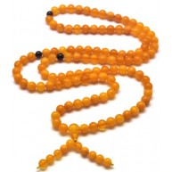 Unpolished Tibetan Buddhist Mala Prayer 108 Baltic amber beads 7,3 mm