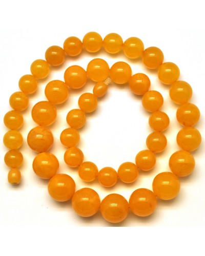 Antique Baltic amber round beads necklace -RAU376