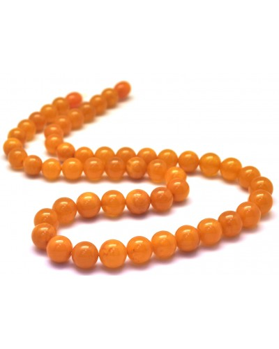 Antique Baltic amber round beads necklace -RAU559