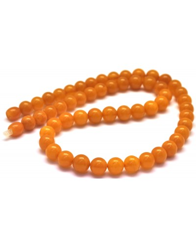 Antique Baltic amber round beads necklace -RAU639