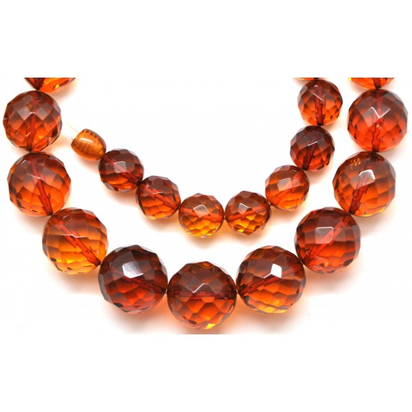 round beads faceted cognac baltic amber necklace from online baltic