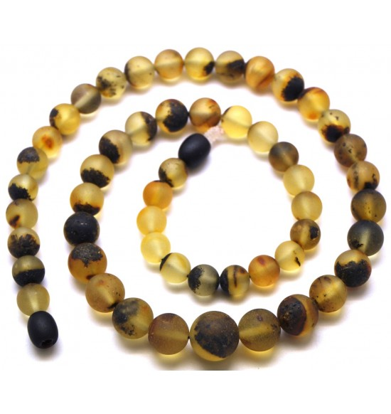 Healing Baltic amber round beads necklace