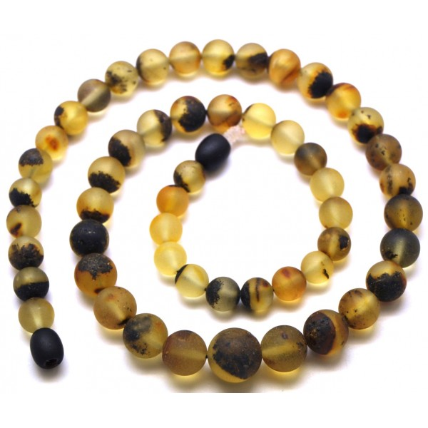 Raw | Healing Baltic amber round beads necklace