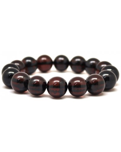 Cherry round beads Baltic amber bracelet  13 - 14 mm.