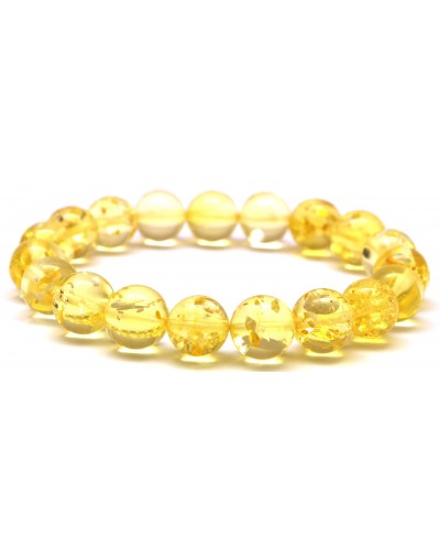 Round beads Baltic amber bracelet 10 mm.