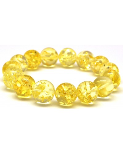 Round beads Baltic amber bracelet 14 mm.