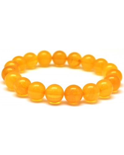 Antique round beads Baltic amber bracelet 10,4 mm.