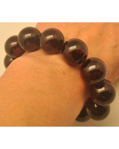 Cherry round beads Baltic amber bracelet  18 mm.