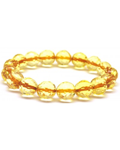 Natural faceted amber bracelet 12 mm.