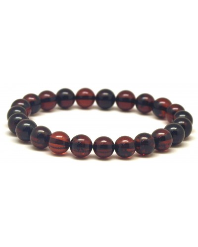 Cherry round beads Baltic amber bracelet  8 mm.