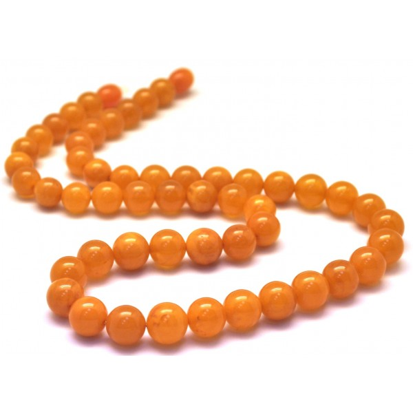 Antique amber | Antique Baltic amber round beads necklace