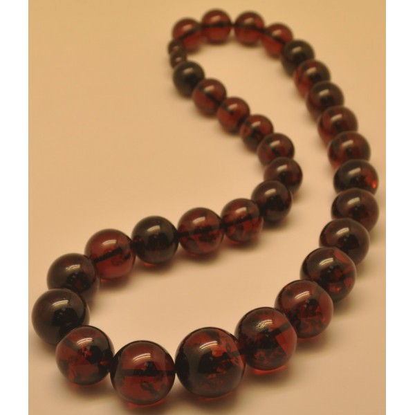 Cherry Baltic Amber Round Beads Necklace From Online
