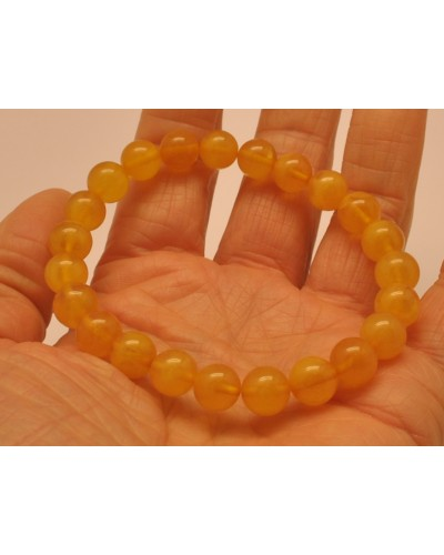 Natural round beads antique color Baltic amber bracelet 9 mm.