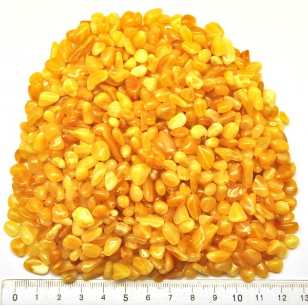 Drilled natural Baltic amber beans shape peaces 100 g.-LA0683