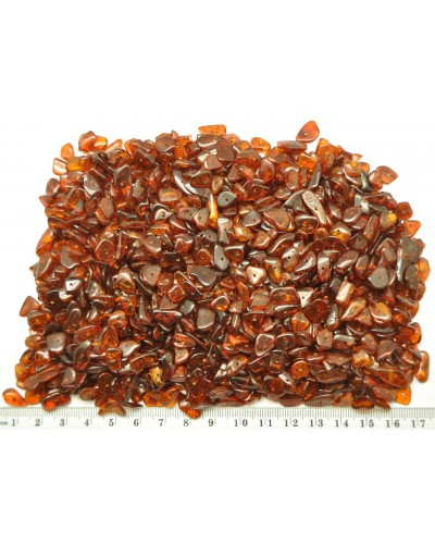Cognac drilled Baltic amber nuggets 100 g .