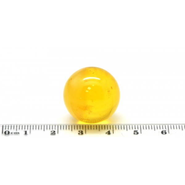 Loose amber | Big Baltic amber round bead 21 mm .
