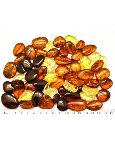Loose drilled Baltic amber big beads 100g