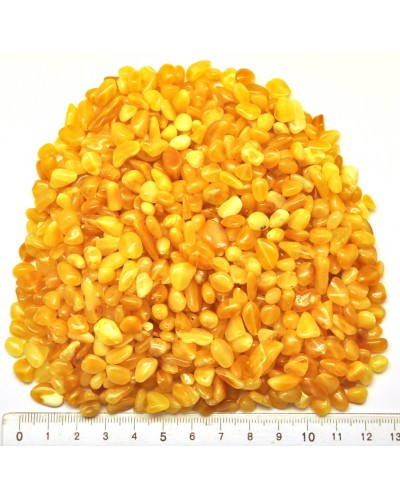 Drilled natural Baltic amber beans shape peaces 100 g.