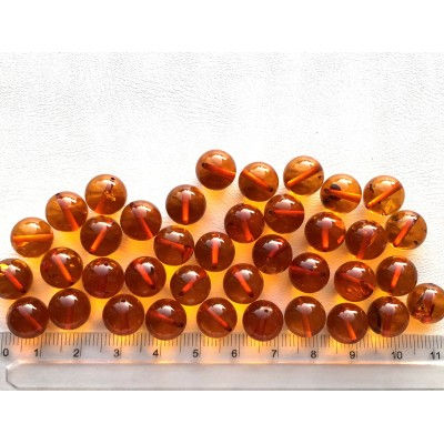 Loose round amber beads 10mm-LA0689