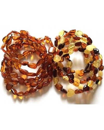10 Beans shape amber bracelets