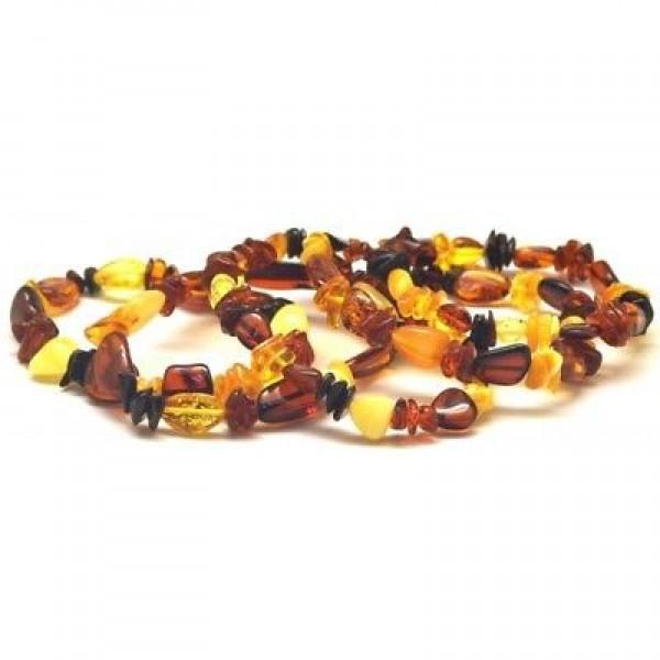 Lot of 5 multicolor beans shape amber bracelets