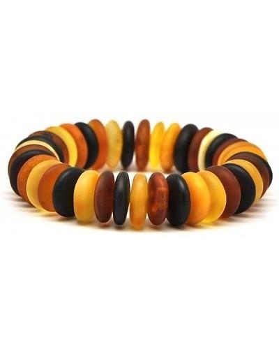 Amber elastic multicolour bracelet