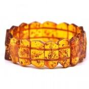 Faceted cognac Baltic amber bracelet