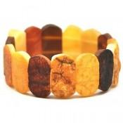 Raw classic multicolor Baltic amber bracelet