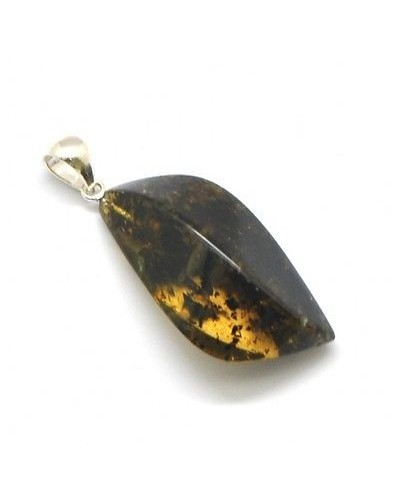 Green Baltic amber pendant