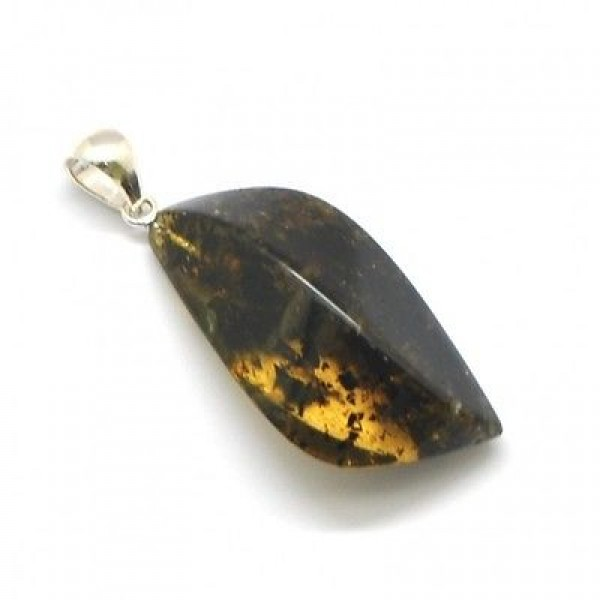 | Green Baltic amber pendant