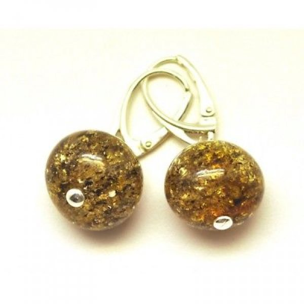 Baroque beads Baltic amber earrings-AE0206
