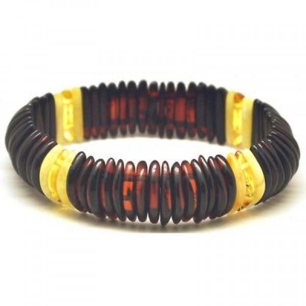 Cherry Baltic amber elastic bracelet-AB2542