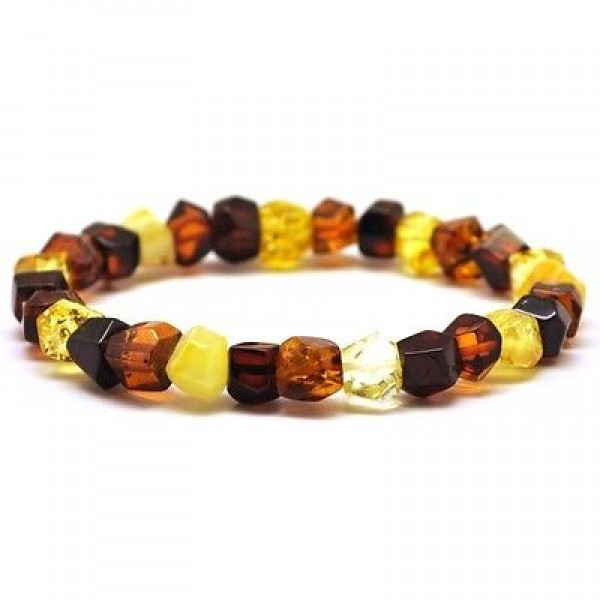 Faceted beads Baltic amber bracelet-AB2355