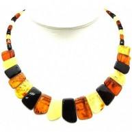 Multicolor Baltic amber choker-AN1617