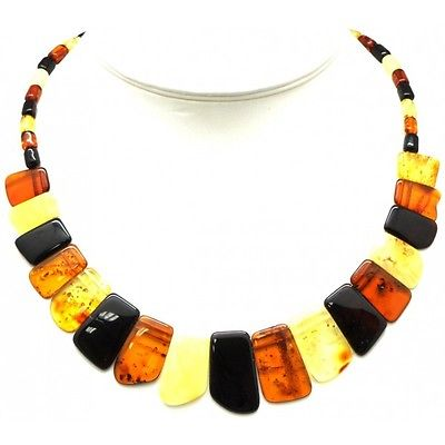 Multicolor Baltic amber choker-AN1617