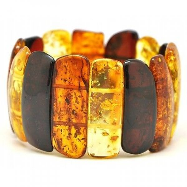 Multicolour Baltic amber bracelet-AB2206