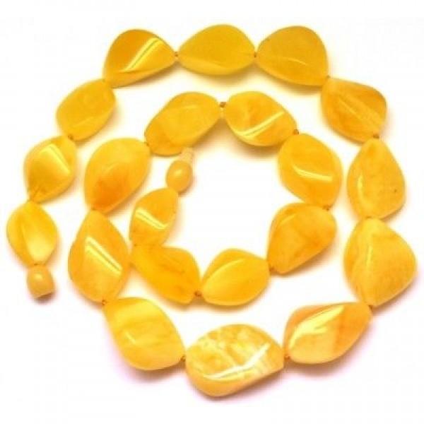 Natural Baltic amber faceted necklace-AN1950