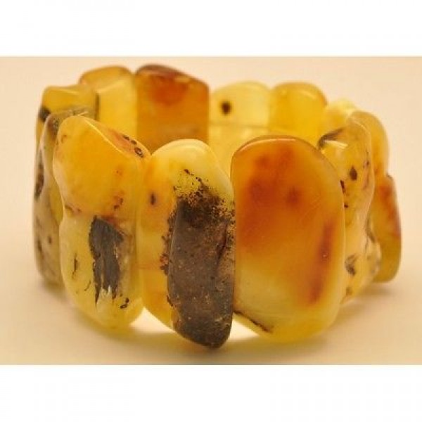 Natural shapes Baltic amber bracelet -AB2393