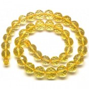 Round beads faceted  Baltic amber necklace