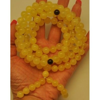 Tibetan Buddhist Mala Prayer 108 Baltic amber beads 10,4 mm